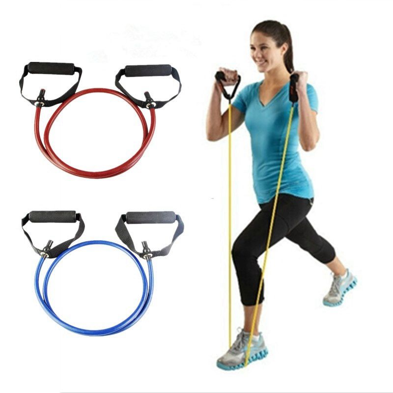 120cm Yoga Pull Rope Fitness Resistance Bands Exercise Tubes Practical Training Elastic Band Rope Yoga Workout Cordages 1PC resistance fitness band stretching strap elastic exercise rope suitable for men