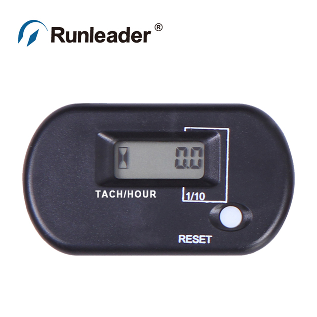 Digital Waterproof Resettable Tachometer Hour Meter Service Meter For small engine for lawn mower ATV motocross snowmobile pit b