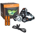 CrazyFire Led Headight 5000 Lumens CREE XML T6+R5 LED Hiking/Camping Headlamp Waterproof +18650 Rechargeable Battery+USB Charger
