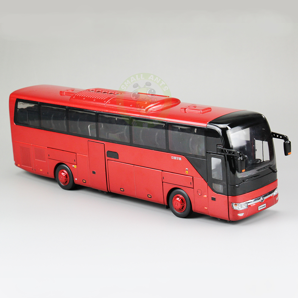 1:43 Scale China YuTong Bus Coach Car Diecast Model Toys ZK6122H 1 43 ankai bus sightseeing tour of london bigbus big bus diecast model bus open top