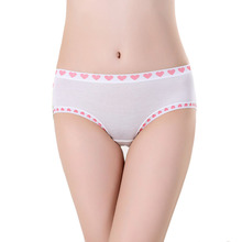 2017 New Arrival Bamboo Fiber Underwear Briefs Women Lovely Cute Heart Print Sexy Seamless Panties for Women Underwears Cotton