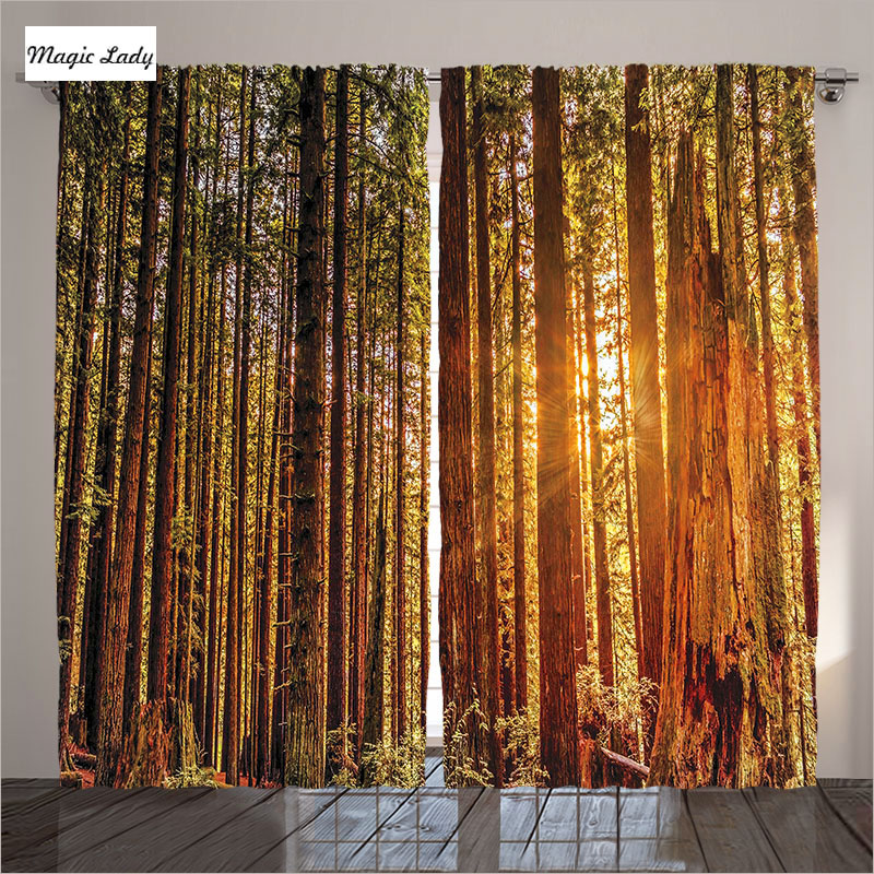 Home Decor Nation: Curtains For Bedroom USA National Park Home Decor Trees