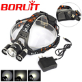 Power 8000Lm 3* XM-L L2 4 Modes Led Headlamp Head Lamp Headlight Light linternas frontales cabeza for Camping + AC Charger