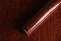 Cozinha porta do armário armário de móveis de mesa à prova d' água grão de madeira pvc papel de parede adesivos decoração da sua casa para adesivos de parede Papel De Parede