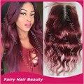 8a качества virgin малайзии реми волос закрытие 4x4 волнистые бордовый закрытия шнурка t1b/99j два тона ломбер закрытие волос бесплатная доставка