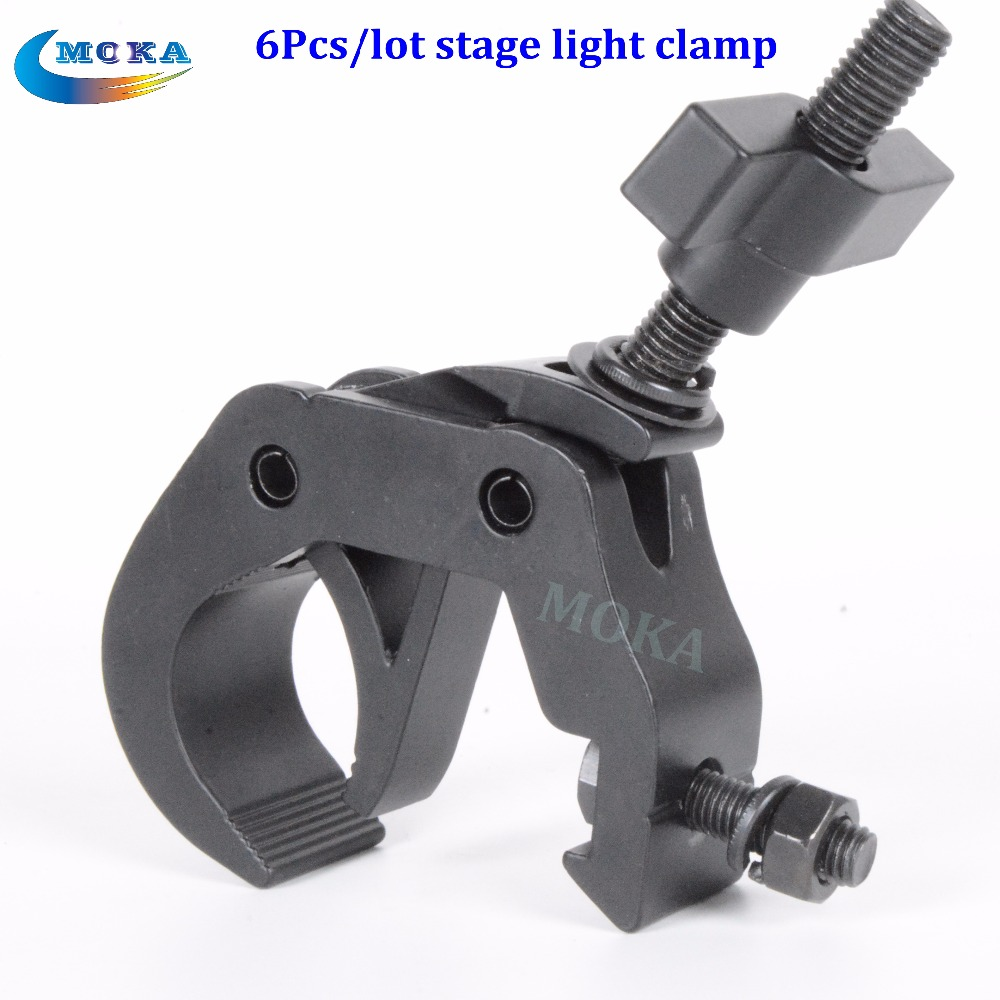6 Pcs/lot Swivel Clamp Global Truss hanging Stage light led light stage <font><b>pipe</b></font> clamp for stage light equipment