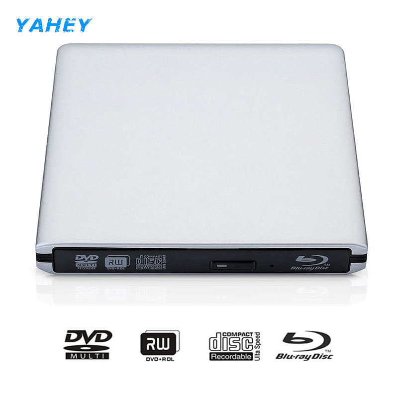 Bluray USB 3.0 External DVD Drive Blu-ray Combo BD-ROM 3D Player DVD RW Burner Writer for Laptop Computer bluray drive external dvd rw burner writer slot load 3d blue ray combo usb 3 0 bd rom player for apple macbook pro imac laptop