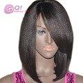 GQ 130% 150% 180% Яки Прямо Бразильские Волосы Glueless Фронта Шнурка парик С Ребенком Волосы Полный Шнурок Парик Человеческих Волос Для Черных женщины