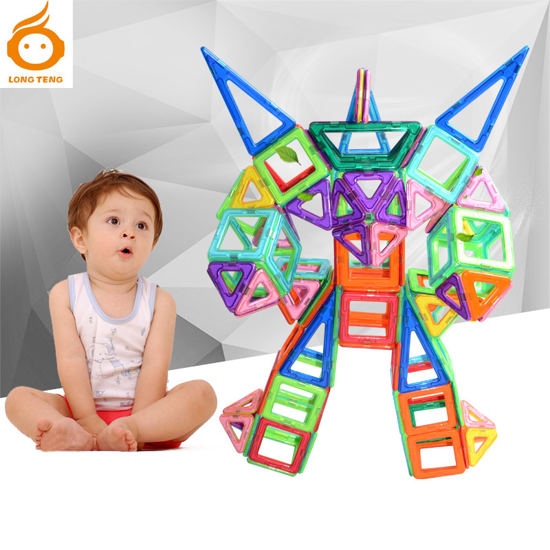 ФОТО Children Building Blocks Toy Magnetic Designer Constructor 3D DIY Plastic Model Building Toy For Kids