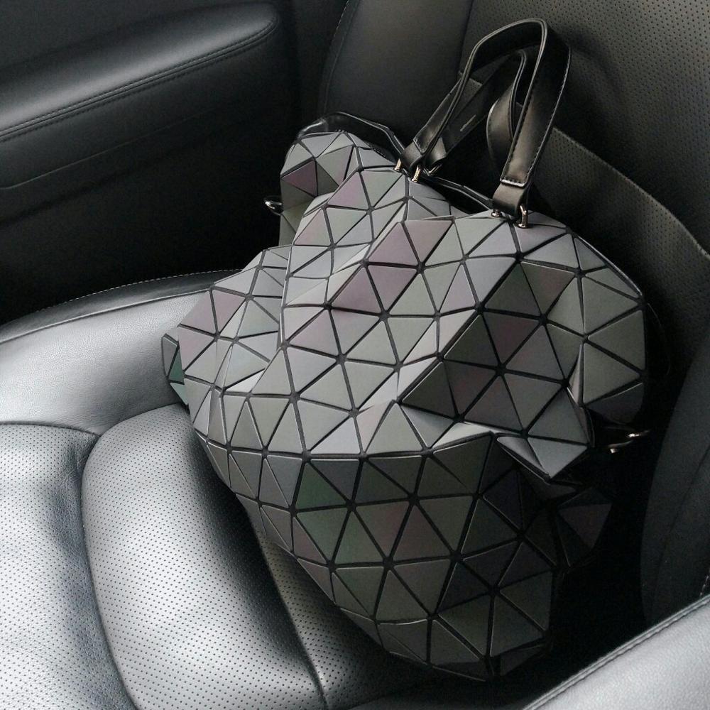 Крутая сумка, меняющая цвет, с геометрическим 3D рисунком с Аликспресс