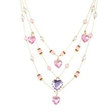Lureme мода «переплетения и шитья» тканые смешанные разноцветные бисера сердце ожерелье иллюзия (nl005394)