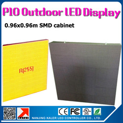 TEEHO Wholesale p10 outdoor led display cabinet with air plug aviation easy connection outdoor waterproof p10 led screen wall