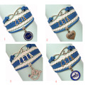 free shipping  Infinity Love ZPB  Wrap Bracelet  ZETA PHI BETA Sorority  Gift for Members Custom  Bracelet Drop Shipping