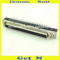 1pcs SCSI 100PIN Female Board SCSI Connector 90 Degree Elbow Socket SCSI Adapter