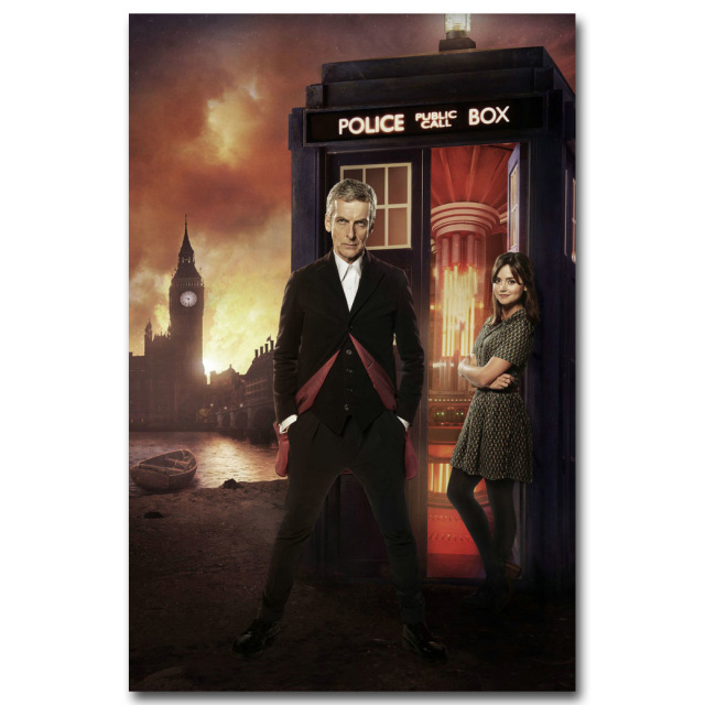DOCTOR WHO Art Silk Fabric Poster Print TV Series Picture for Living Room Wall Decoration 13×20 24x36inch 003