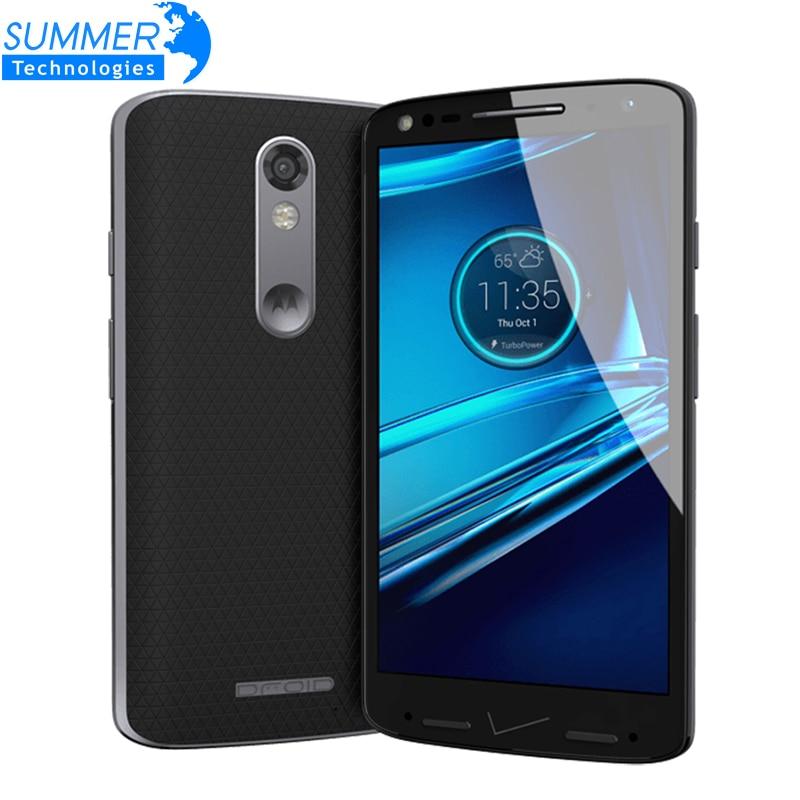 "Цена за Оригинал Motorola DROID turbo 2 XT1585 Мобильного Телефона Snapdragon810 3 ГБ RAM 32 ГБ ROM 5.4 ""64bit 21MP Смартфон"