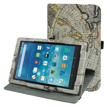 360 Degree Rotary Rotating Leather Cute Case Cover For 8″Amazon Fire HD 8 2015 Tablet