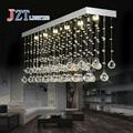 T Best Price LED Retangular Modern Lustre Crystal Chandeliers Crystal Dining-room Lamp Droplight Pandent Lamp Height38cm