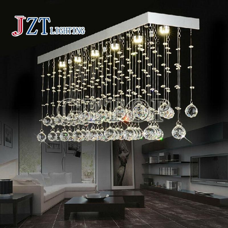 T Besten Preis Led Retangular Moderne Glanz Kristall Kronleuchter