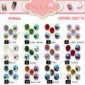 20 pçs/lote liga unhas encantos arte decoração 3D dicas oval Bling Glitter pedra