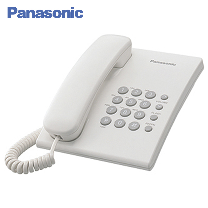 Panasonic KX-TS2350RUW Phone Home fixed Desktop Phone Landline for home and offfice use. adjustable plastic holder stand for phone and tablet pc black