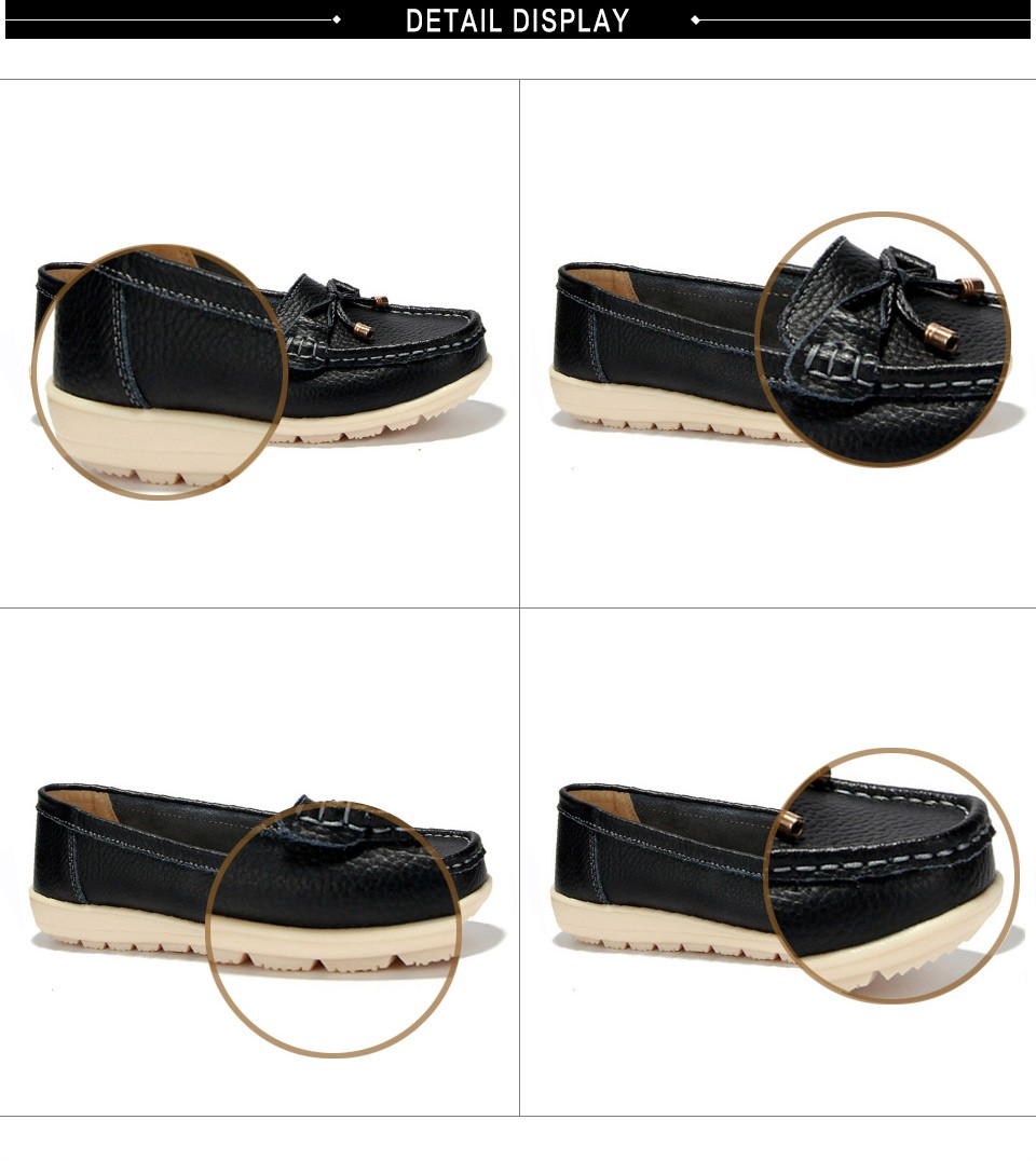 Leather women flats shoes 2
