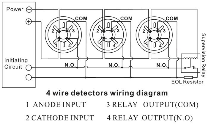 wiring diagram for smoke detectors in series