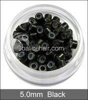 1000 шт 9 цветов 5 мм кремния микро-карты кольца / соединения / buses для предварительного Bond и пушистый волос наращивание
