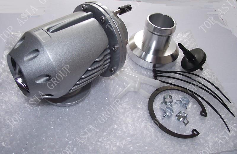 Универсальный Серебряный SQV SSQV 2 Bov турбо предохранительный клапан Bov с адаптером фланец серебро