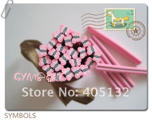 D-01,, 100 шт., 5 мм, розовая форма бабочки, глиняный тростник, необычный дизайн ногтей, полимерная глина, трость