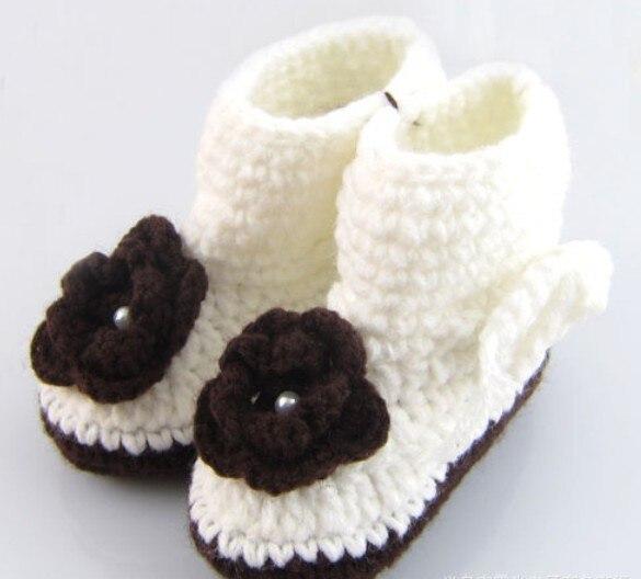 Ganchillo hechos a mano zapatos de bebé de punto Multi patrón bebé ...