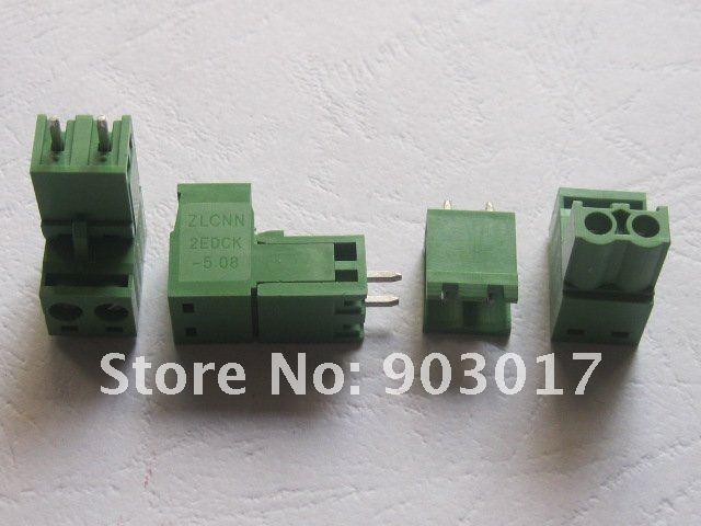 200 шт. в партии тип зеленый 2way/pin 5,08 мм винтовой клеммный блок разъем горячая Распродажа высокого качества