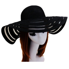 Newest Mesh Straw Felt Beach Sun Hat Folding Summer Caps For Women 4 Colors Free Shipping