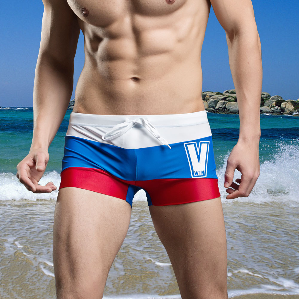 2016 new arrivals man swimwear boxer brand Mens swimming trunks Sexy beach Shorts Boxers Sports suit Men Swimsuit