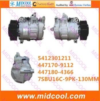 Compresseur automatique de haute qualité 7SBU16C 9PK 130 MM 24 V pour 5412301211 447170-9112 447180-4366