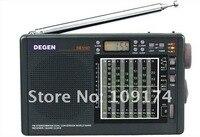 бесплатная доставка 1 шт./лот деген de1107 FM-АМ с двойным преобразованием мульти радио цифровые часы радио