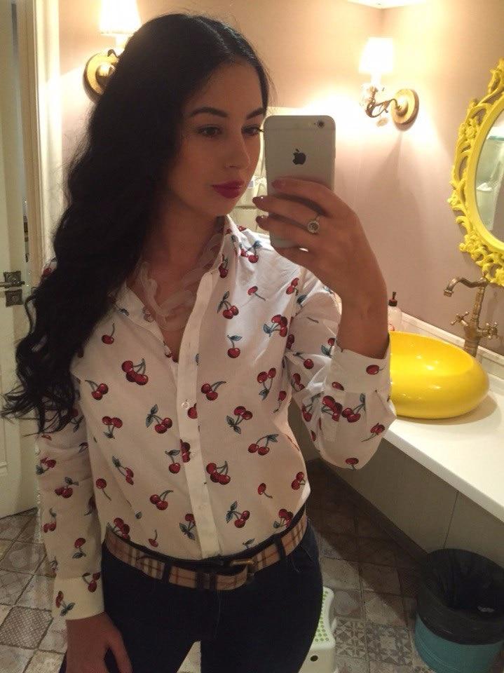 Хлопковая рубашка с Алиэкспресс