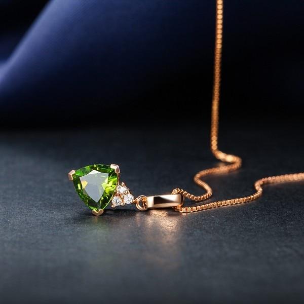VVS драгоценный камень Валентина классический подарок GVBORI 18 К розовое золото зеленый драгоценный камень кулон подарок для женщин юбилей