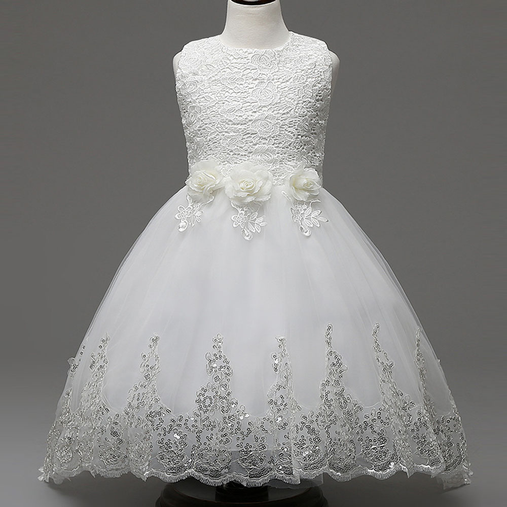 girls dresses for children clothing kids flower baby white dress girl dresses party and wedding dresses princess tutu customes