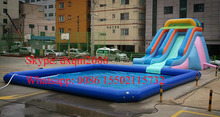 Factory inflatable water park slide with pool for sale /inflatable water slide rental swimming pool for adults