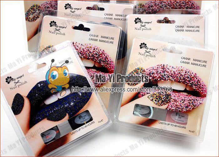 1 One Piece Rainbow Color Caviar Nail Polish Caviar Manicure Girls