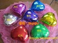 """18 """" в форме сердца фольга воздушные шары, годовщина ну вечеринку воздушные шары, 18 дюймов бесплатная доставка"""