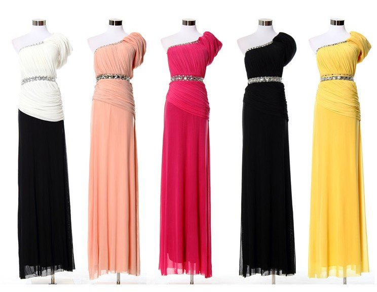 1c7cbc99fc (Free Shipping)Superb Long One-shoulder Silm Formal Evening Dress For Women