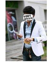 бесплатная доставка 2011 новый мужской костюм мода костюм цвета : белый размер : мл-хl