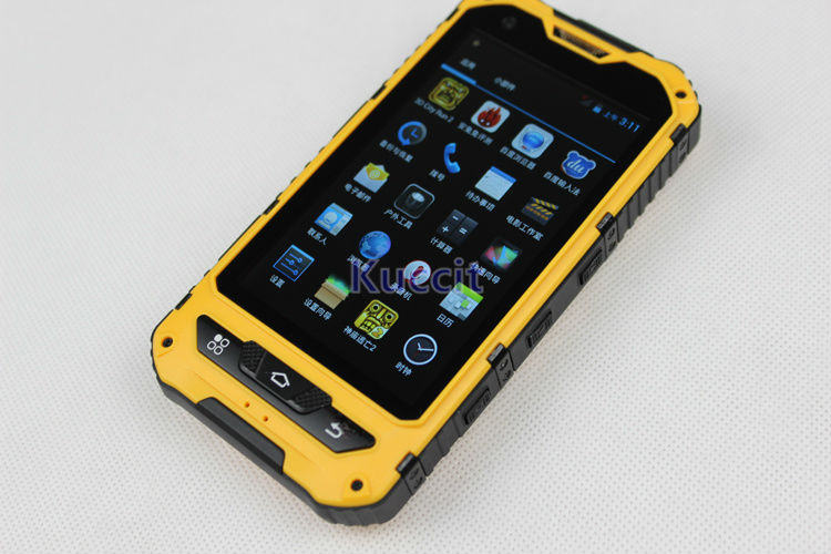 IP68 Rugged Android Waterproof Smartphone unlocked cell phone A8 MTK6582  Quad Core 2GB RAM Senior shockproof smartphone 3G GPS-in Mobile Phones from