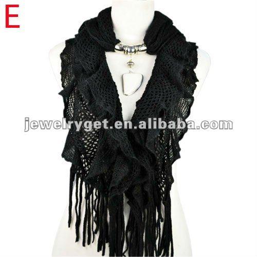 New design!women winter warm waved shaped pendant jewelry scarf  NL-1932 (10).jpg