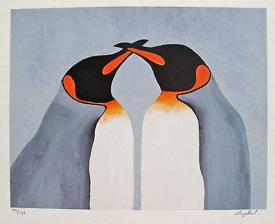 Nicola Read Hand Paints Beak To Penguins Oil Paintings Cheap Abstract Art Simple Painting