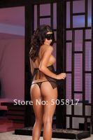 горячая распродажа сексуальное белье ну вечеринку Клубная одежда для взрослых костюм женская ночное открыт бюст кружева сорочка с выпученными k8469