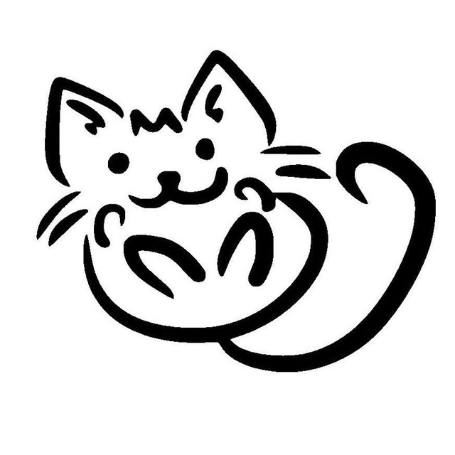 13 10 5 Cm Lucu Kartun Kucing Stiker Mobil Styling Dekoratif Fashion