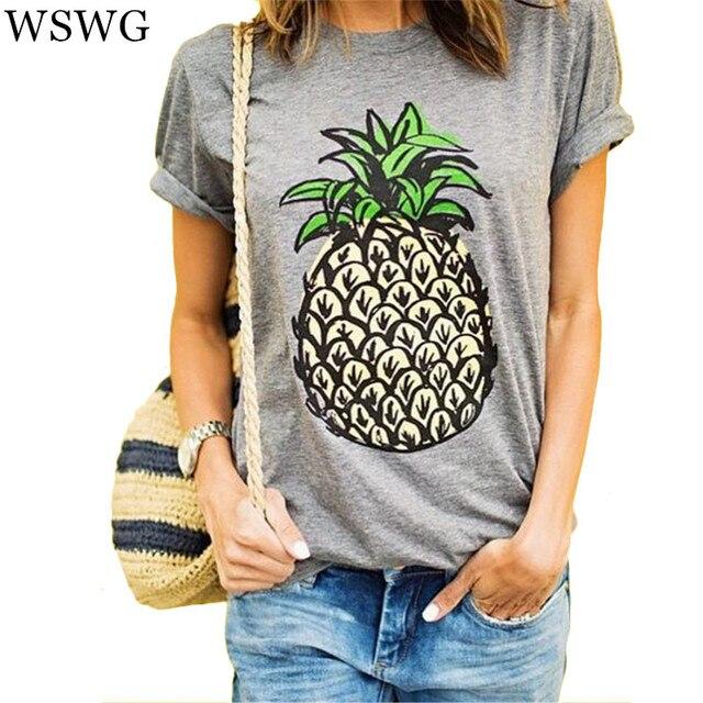 Женская футболка с ананасом | Aliexpress